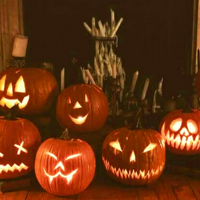 Various Carved pumpkins
