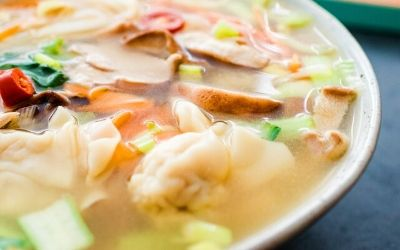 soup in dish